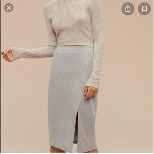 Babaton Forrest cross-front skirt - 00